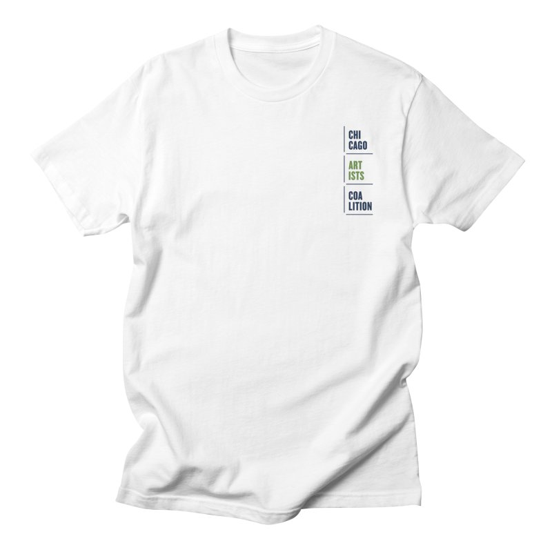 CAC logo Vertical in Men's Regular T-Shirt White by Shop CAC