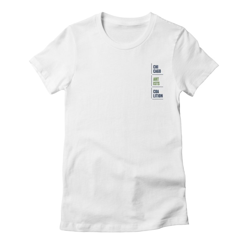 CAC logo Vertical Women's Fitted T-Shirt by Shop CAC