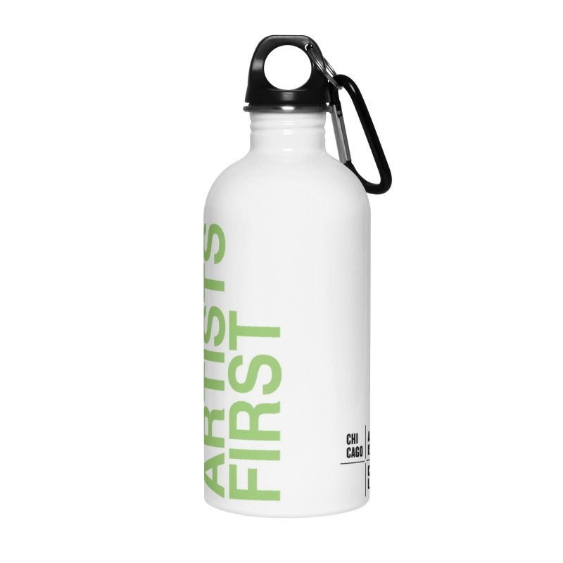 Artists First Water Bottle Lime Green Accessories Water Bottle by Shop CAC