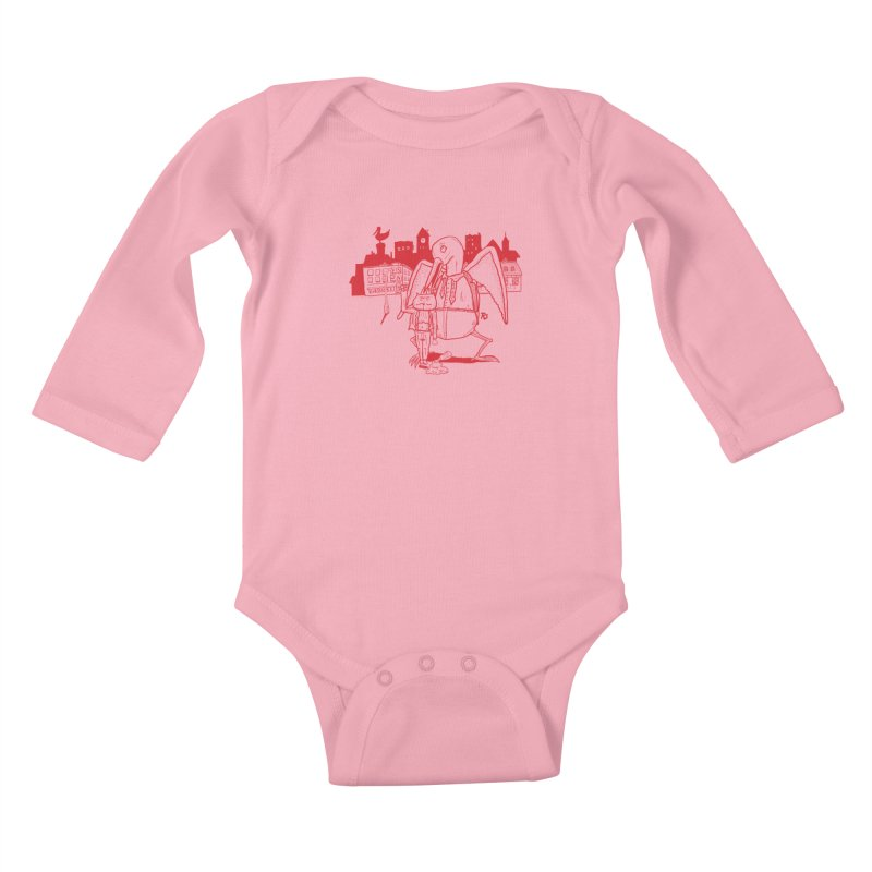 The night out (RED) Kids Baby Longsleeve Bodysuit by Sigart's Shop