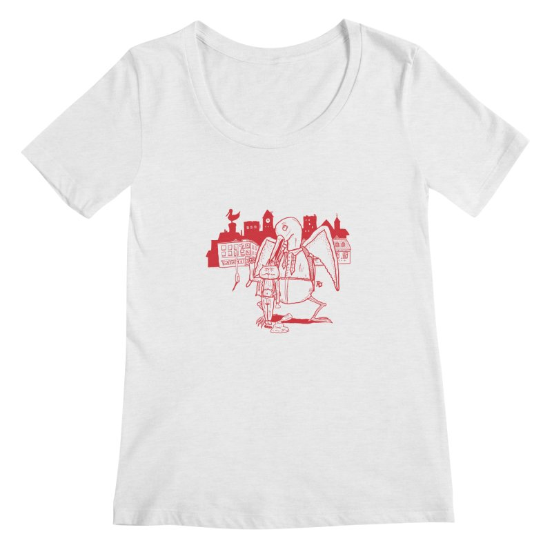 The night out (RED) Women's Scoopneck by Sigart's Shop