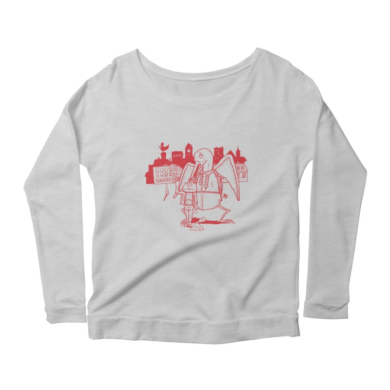 The night out (RED) Women's Longsleeve Scoopneck  by Sigart's Shop