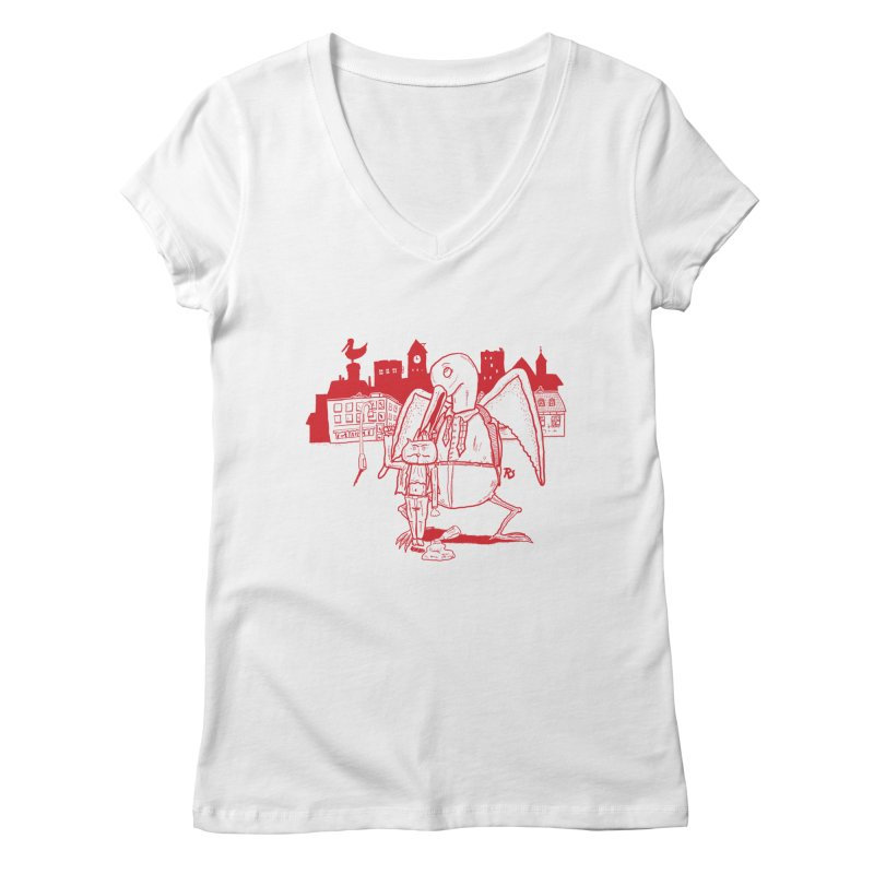 The night out (RED) Women's V-Neck by Sigart's Shop