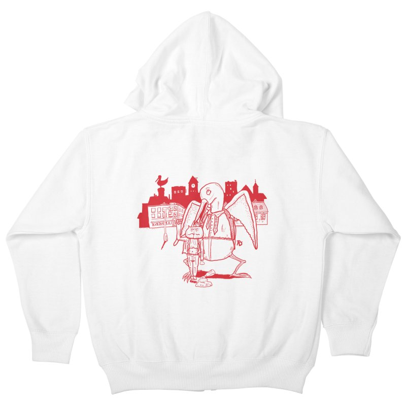 The night out (RED) Kids Zip-Up Hoody by Sigart's Shop