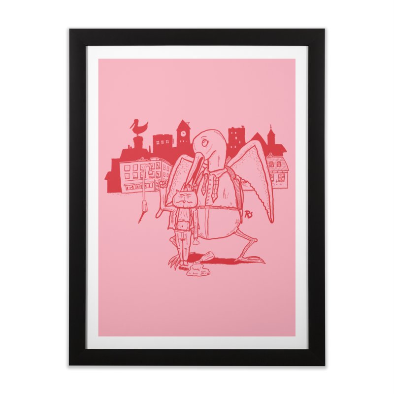 The night out (RED) Home Framed Fine Art Print by Sigart's Shop