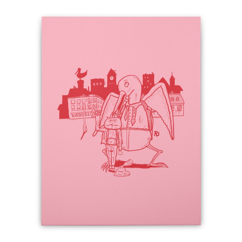 The night out (RED) Home Stretched Canvas by Sigart's Shop