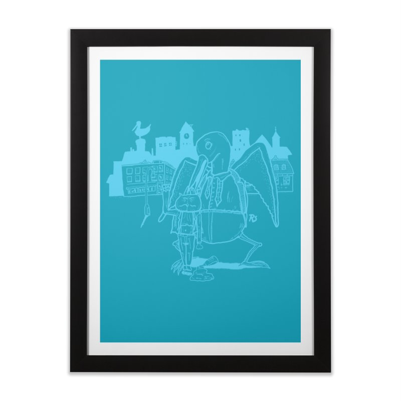 The Night out (BLUE) Home Framed Fine Art Print by Sigart's Shop