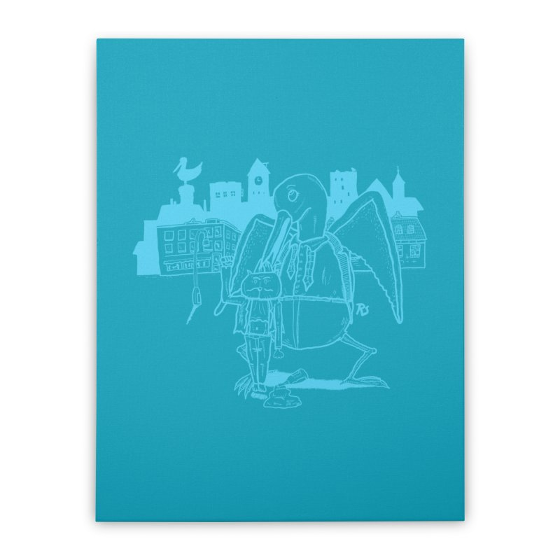 The Night out (BLUE) Home Stretched Canvas by Sigart's Shop