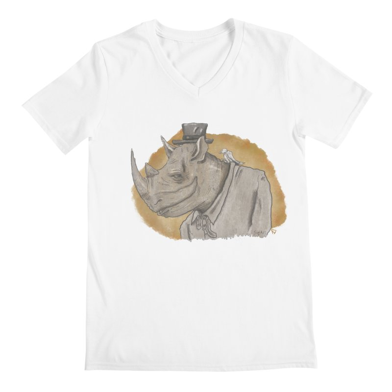 The rhino and the whisper Men's V-Neck by Sigart's Shop