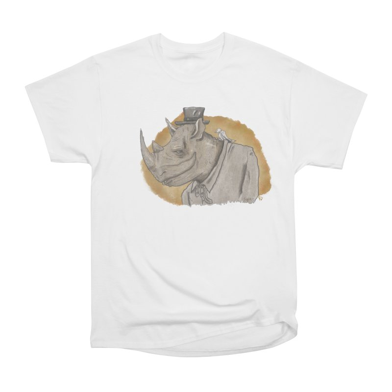 The rhino and the whisper Men's Heavyweight T-Shirt by Sigart's Shop