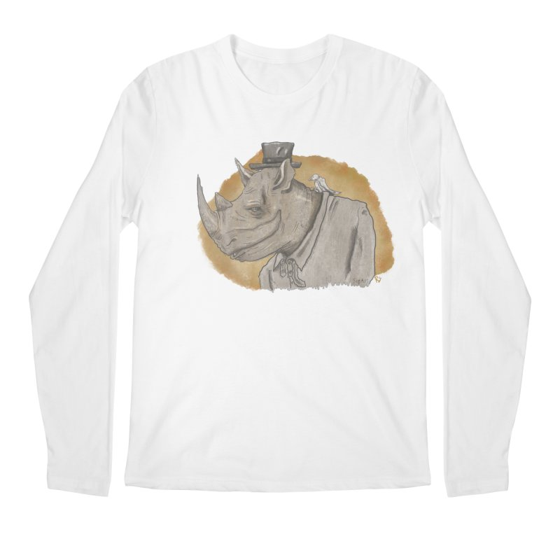 The rhino and the whisper Men's Regular Longsleeve T-Shirt by Sigart's Shop