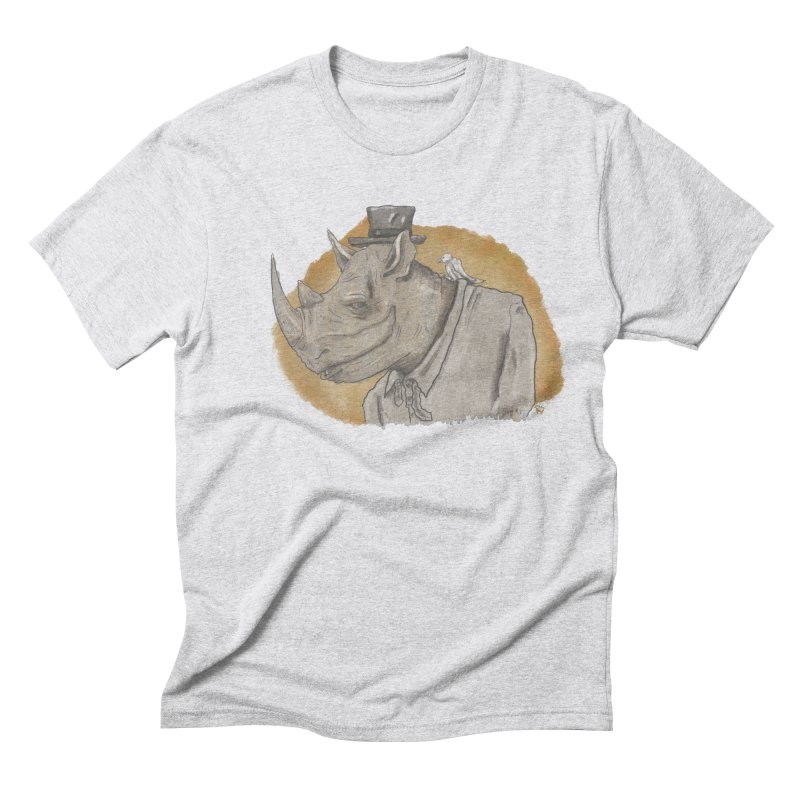 The rhino and the whisper Men's Triblend T-shirt by Sigart's Shop