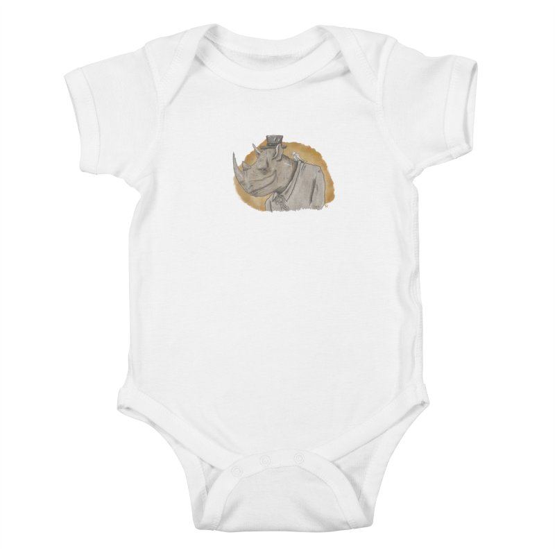 The rhino and the whisper Kids Baby Bodysuit by Sigart's Shop