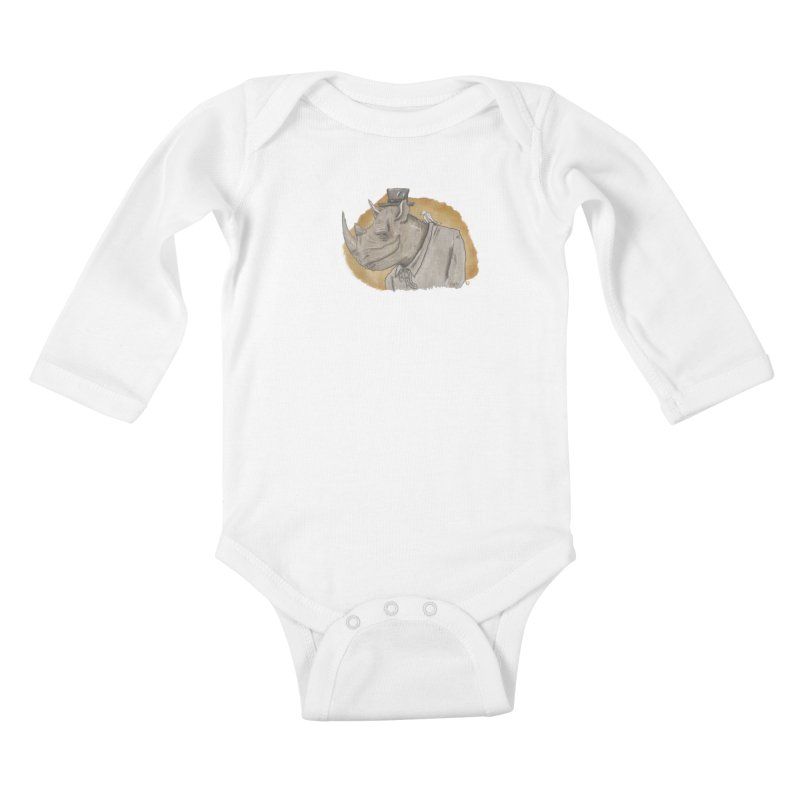 The rhino and the whisper Kids Baby Longsleeve Bodysuit by Sigart's Shop