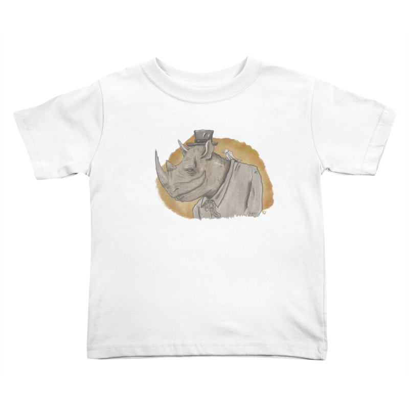 The rhino and the whisper Kids Toddler T-Shirt by Sigart's Shop