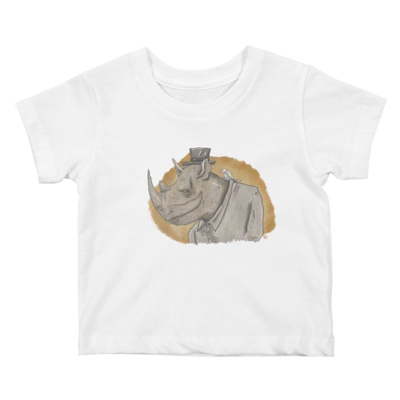 The rhino and the whisper Kids Baby T-Shirt by Sigart's Shop