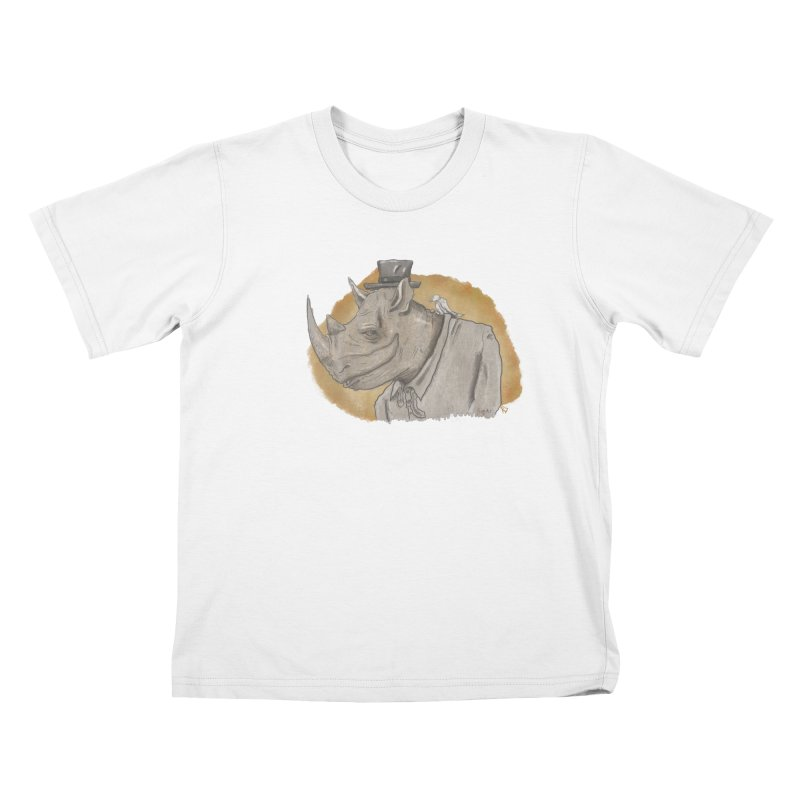 The rhino and the whisper Kids T-Shirt by Sigart's Shop