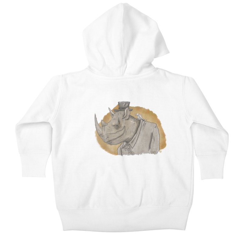 The rhino and the whisper Kids Baby Zip-Up Hoody by Sigart's Shop