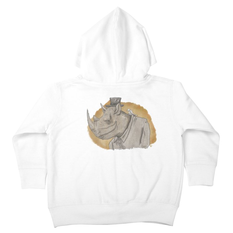 The rhino and the whisper Kids Toddler Zip-Up Hoody by Sigart's Shop