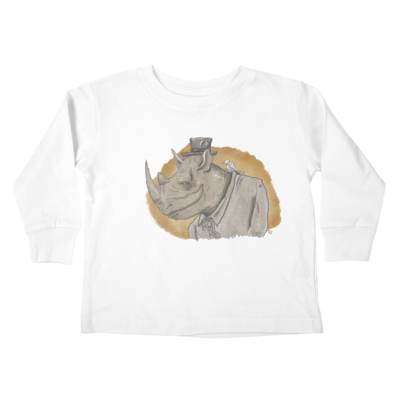 The rhino and the whisper Kids Toddler Longsleeve T-Shirt by Sigart's Shop