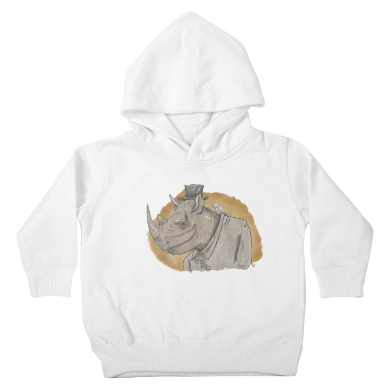 The rhino and the whisper Kids Toddler Pullover Hoody by Sigart's Shop