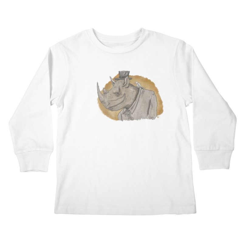 The rhino and the whisper Kids Longsleeve T-Shirt by Sigart's Shop
