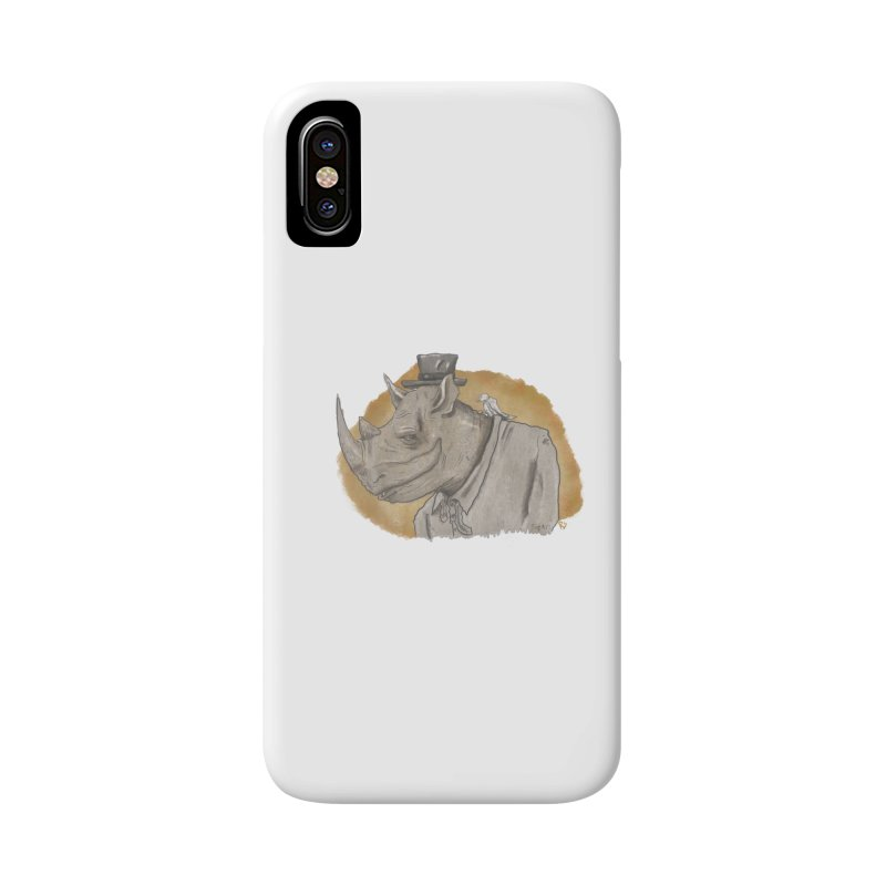 The rhino and the whisper Accessories Phone Case by Sigart's Shop