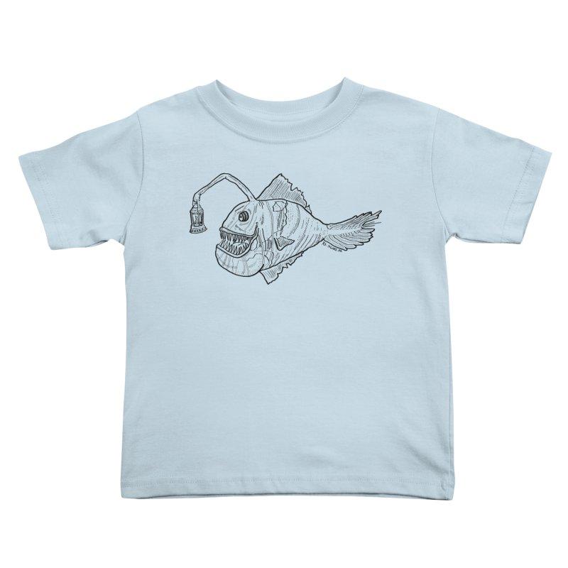 Deep sea light Kids Toddler T-Shirt by Sigart's Shop