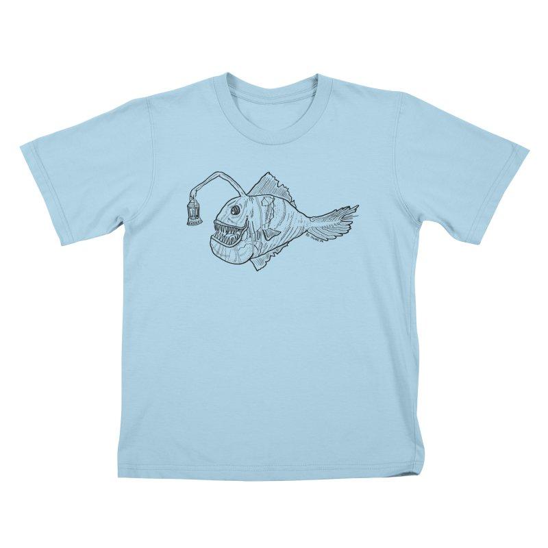 Deep sea light Kids T-shirt by Sigart's Shop