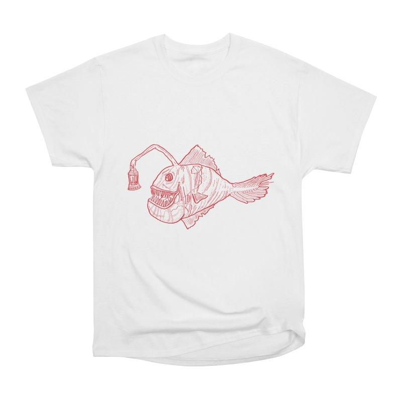 Deep sea light - red version Women's Classic Unisex T-Shirt by Sigart's Shop