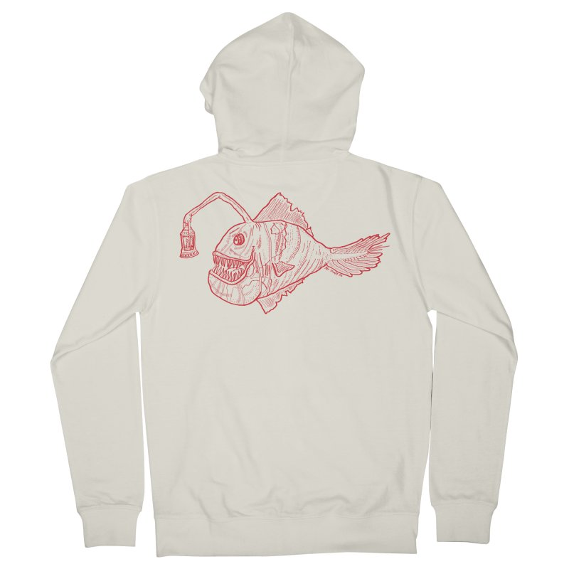 Deep sea light - red version Women's Zip-Up Hoody by Sigart's Shop