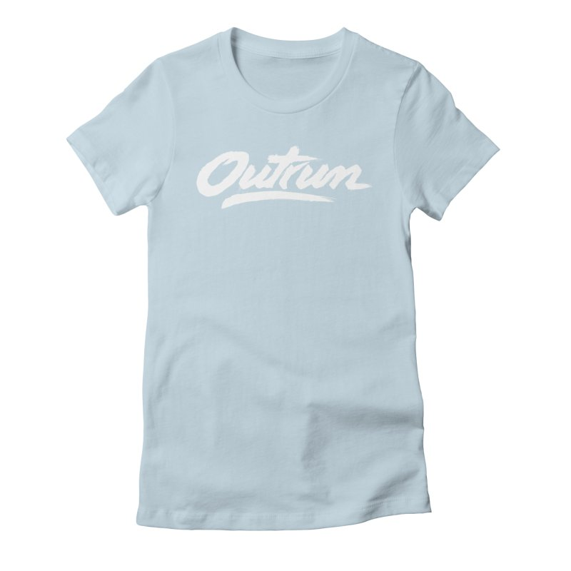 Outrun Women's Fitted T-Shirt by Signalnoise Threadless Store
