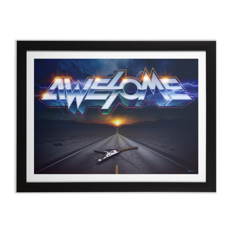 Awesome Home Framed Fine Art Print by Signalnoise Threadless Store