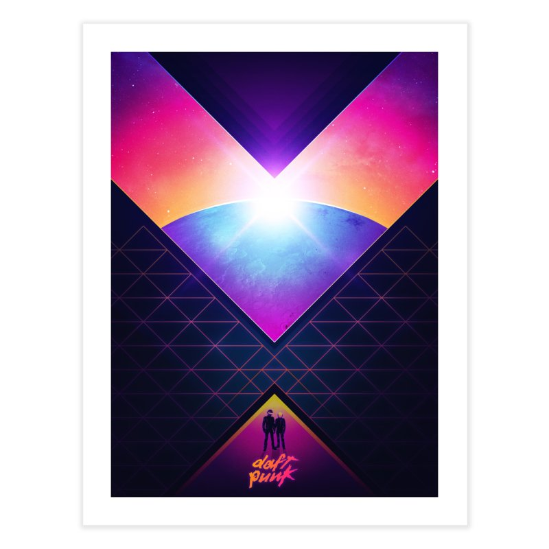 Robot Rock: 2016 Redux Home Fine Art Print by Signalnoise Threadless Store