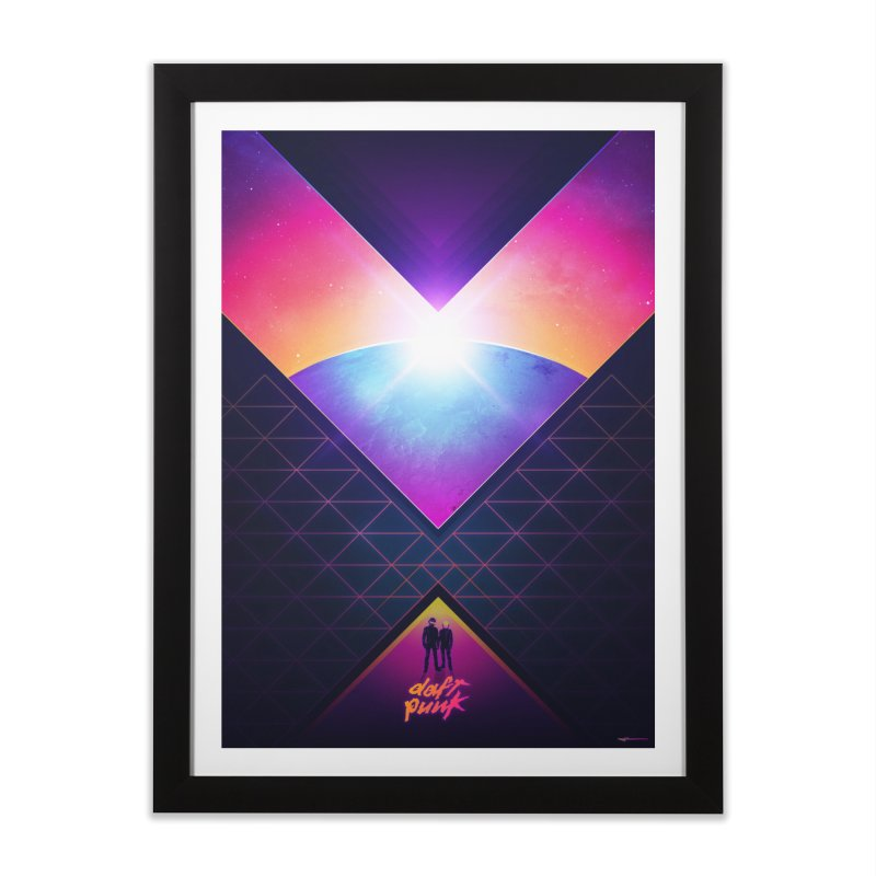 Robot Rock: 2016 Redux Home Framed Fine Art Print by Signalnoise Threadless Store