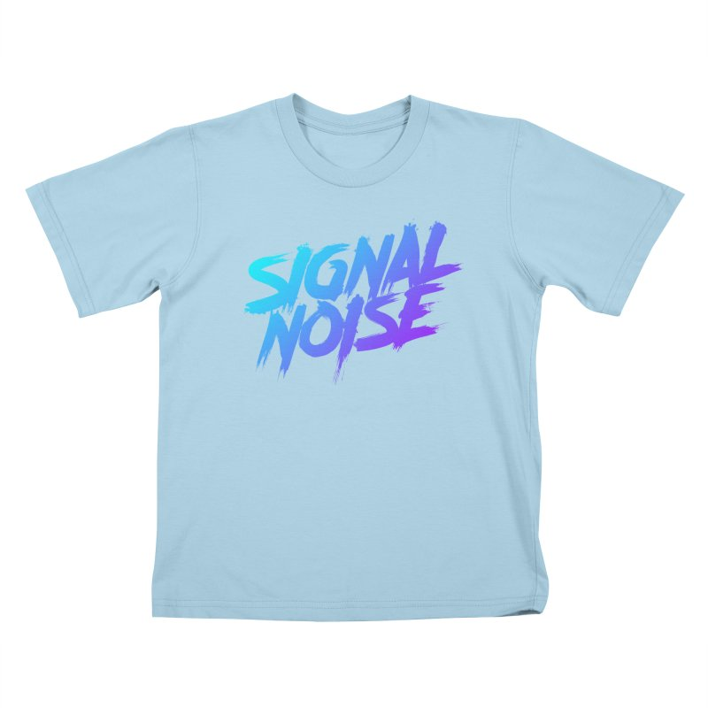 Signalnoise Rocker Blue Kids T-shirt by Signalnoise Threadless Store