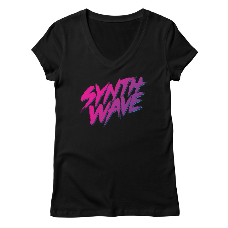 Synthwave Forever Women's V-Neck by Signalnoise Threadless Store