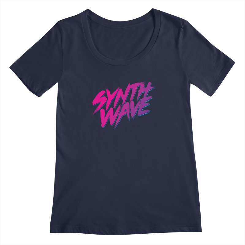 Synthwave Forever Women's Regular Scoop Neck by Signalnoise Threadless Store