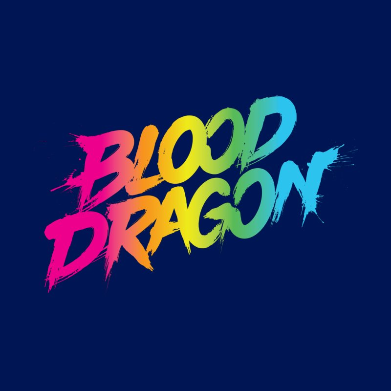 Blood Dragon Men's V-Neck by Signalnoise Threadless Store