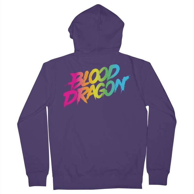 Blood Dragon Women's French Terry Zip-Up Hoody by Signalnoise Threadless Store