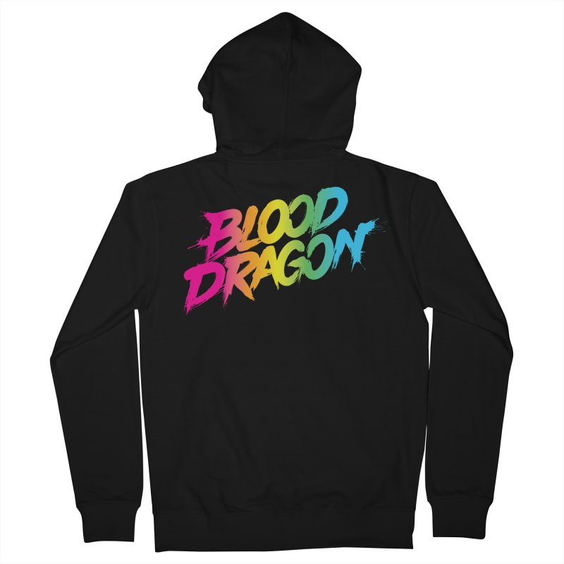 Blood Dragon Men's French Terry Zip-Up Hoody by Signalnoise Threadless Store