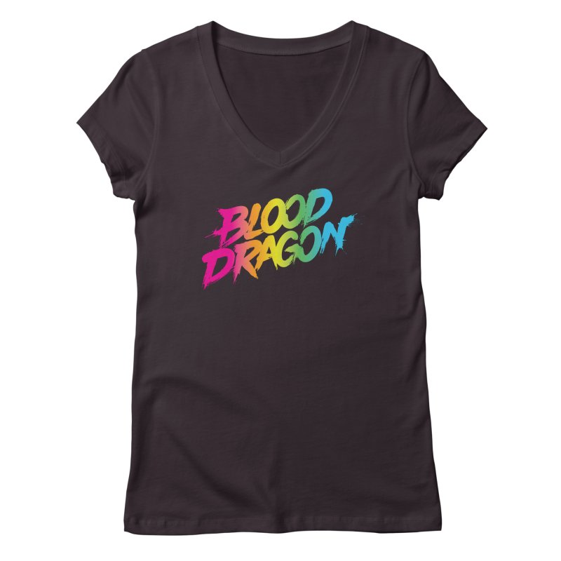 Blood Dragon Women's V-Neck by Signalnoise Threadless Store