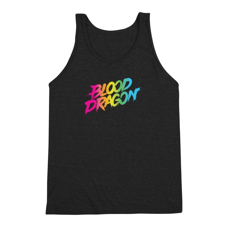 Blood Dragon Men's Triblend Tank by Signalnoise Threadless Store