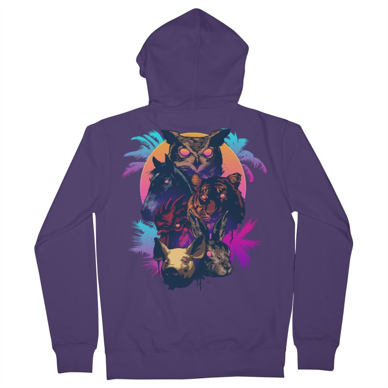 Hotline Miami Women's Zip-Up Hoody by Signalnoise Threadless Store