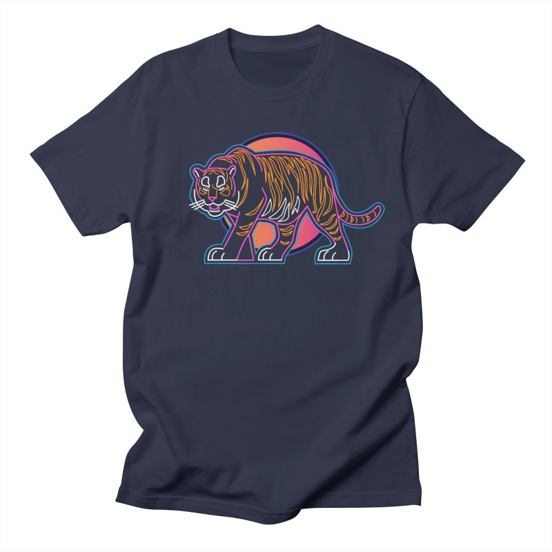 Neon Tiger Men's T-Shirt by Signalnoise Threadless Store