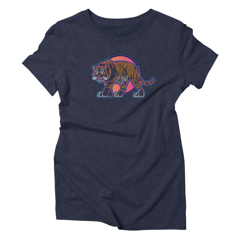 Neon Tiger Women's T-Shirt by Signalnoise Threadless Store