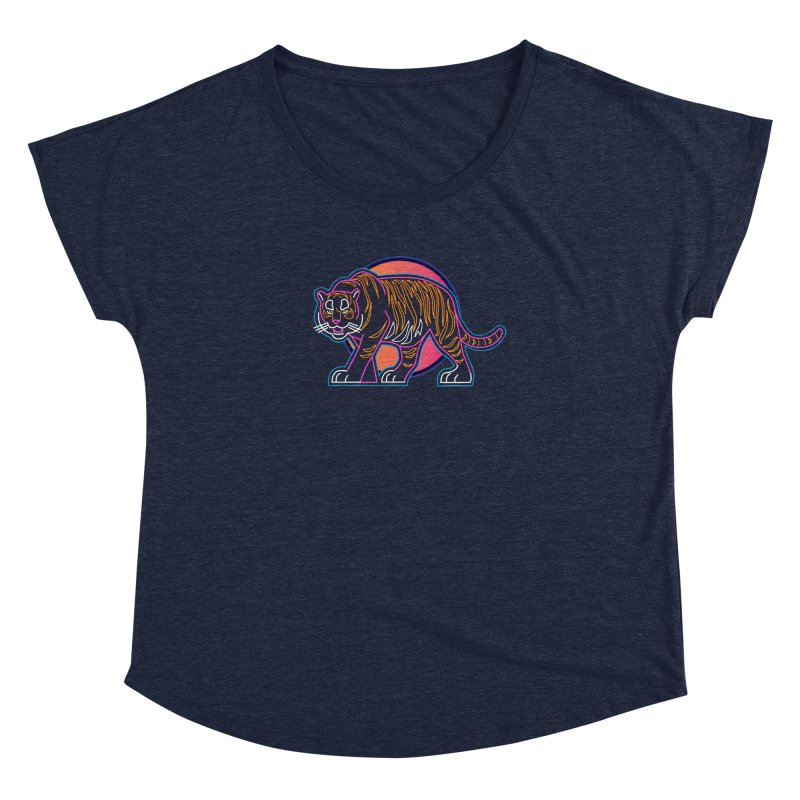 Neon Tiger Women's Dolman Scoop Neck by Signalnoise Threadless Store