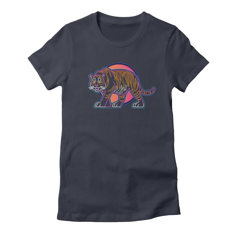 Neon Tiger Women's Fitted T-Shirt by Signalnoise Threadless Store