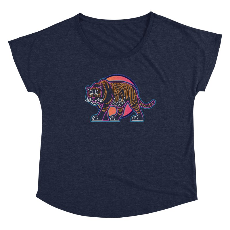 Neon Tiger Women's Scoop Neck by Signalnoise Threadless Store