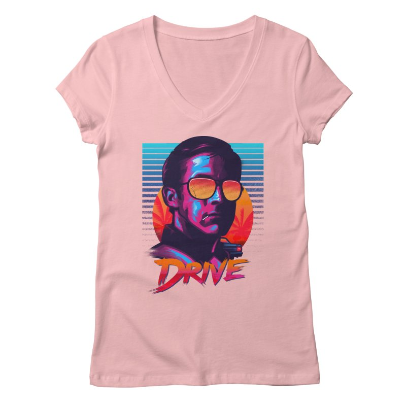 Drive Women's V-Neck by Signalnoise Threadless Store